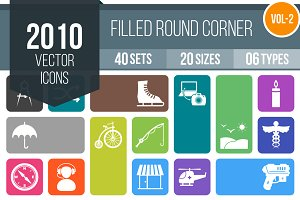 2010 Filled Round Corner Icons (V2)