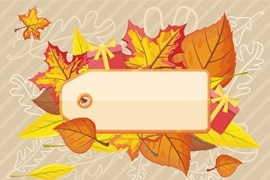 Tag Label Template for Autumn Sale