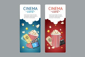 Cinema Movie Card Set. Vector
