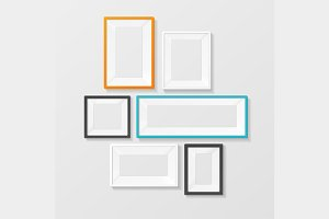 Colorful Picture Frame Template Set