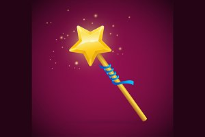 Magic Wand with Shining Star.