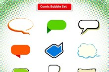 Comic Bubble Set Icon