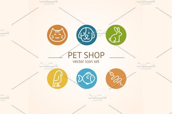 Pet Shop Concept. Vector - Illustrations