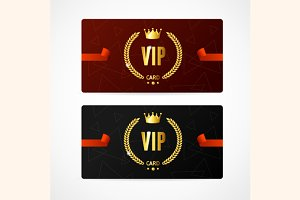 VIP Card Set. Vector