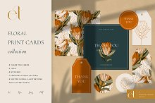 Floral Print Cards Collection by  in Templates