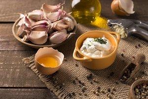 homemade garlic dip