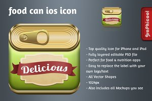 Canned Food iOS app icon