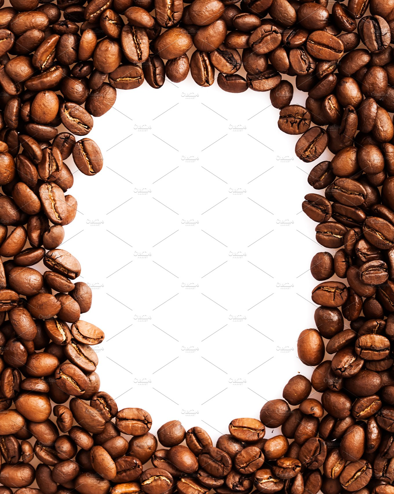 Coffee Beans Frame Background Food Images Creative Market