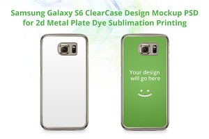 Galaxy S6 2D Transparent Case Mockup