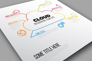 Vector Cloud Infographic Template