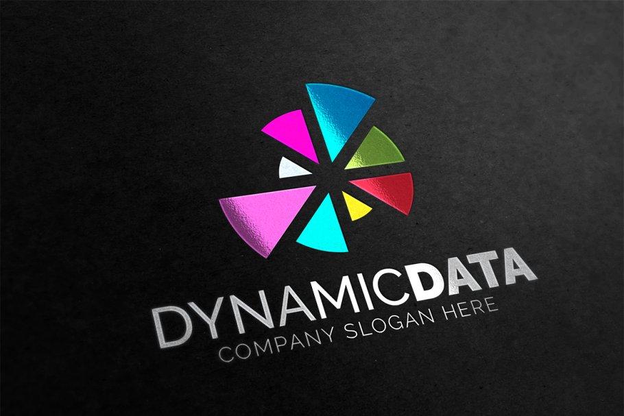 Dynamic Data Logo Logo Templates Creative Market