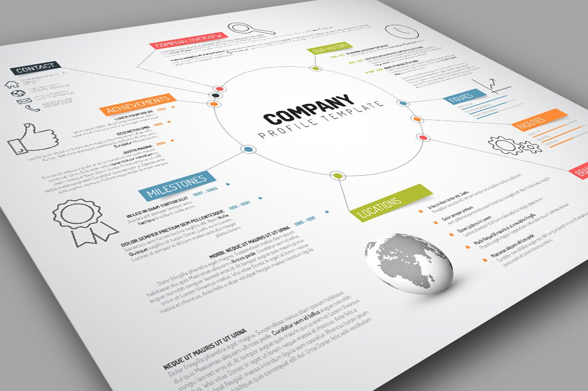 Company profile template presentation templates for Company portfolio template doc