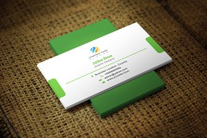 Greenlinear Business Card Template