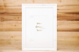 White dotted simple frame