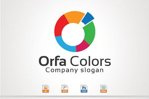 Orfa Colors,O Letter logo