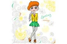 Cute hipster girl