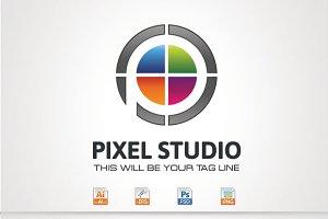 Pixel Studio,P Letter Logo