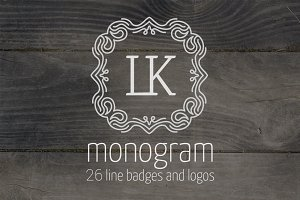 Monogram and logos templates