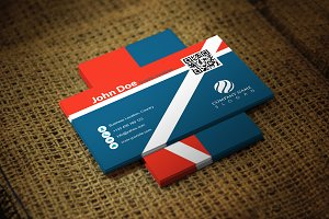 Redline Business Card Template