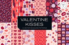 Valentine Kisses Pattern Collection by  in Graphics