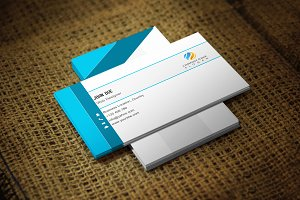 Mixedblueat Business Card Template