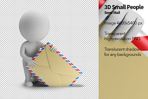 3D Small People - Send Mail