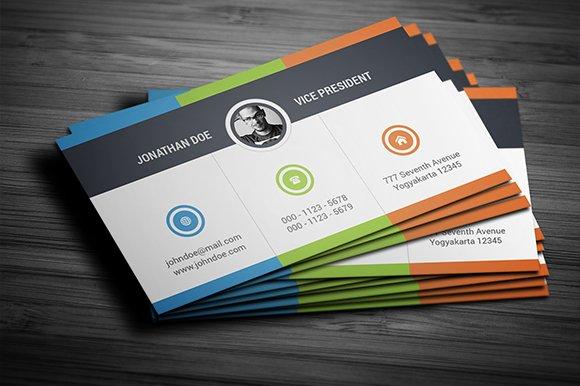 Creative Multicolor Business Card Cards