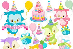 Birthday Clipart Owls AMB-1186