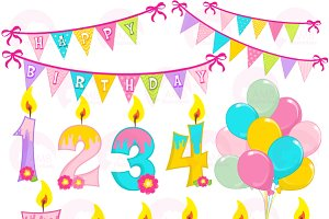 Birthday Clipart Candles AMB-1187