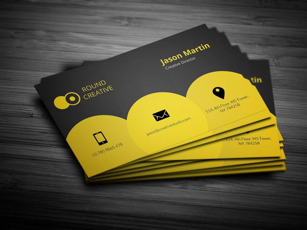 Creative yellow business card business card templates creative creative yellow business card business card templates creative market colourmoves