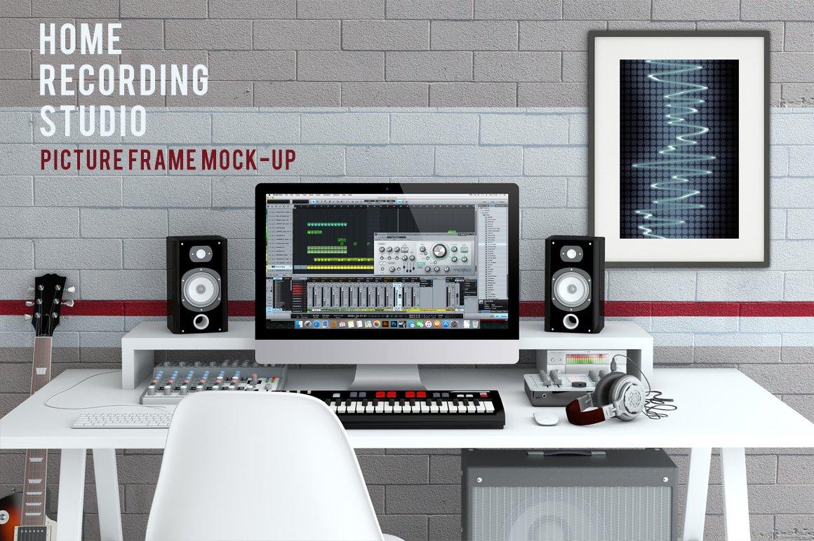 Home Recording Studio Mock-Up #2 ~ Product Mockups