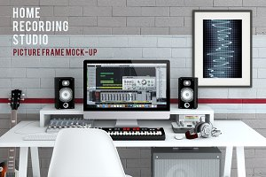 Home Recording Studio Mock-Up #2