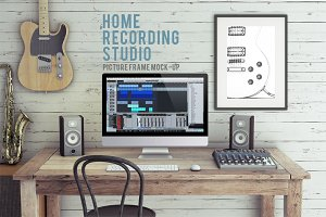 Home Recording Studio Mock-Up