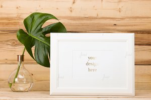 Frame with monstera deliciosa ♥
