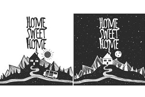 Day and night Home Sweet Home set