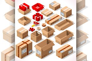 Packaging Cardboard Box Set
