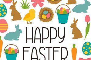 Happy Easter greeting cards.