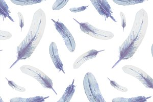 Realistic vector feather pattern