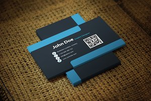 Blueblackish Business Card Template