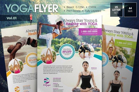 Yoga Flyer Vol.01 - Flyers