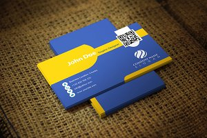 Yellish Business Card Template