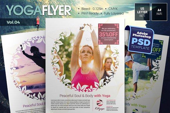 Yoga Flyer Vol.04 - Flyers
