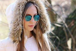 Outdoor fashion portrait