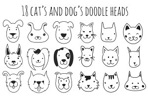 Cute doodle hand drawn animals