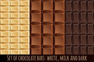 Set of chocolate bars patterns
