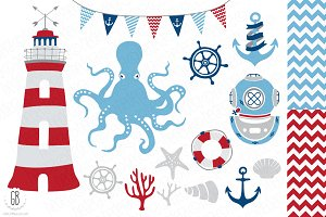 Nautical vector clip art, anchor