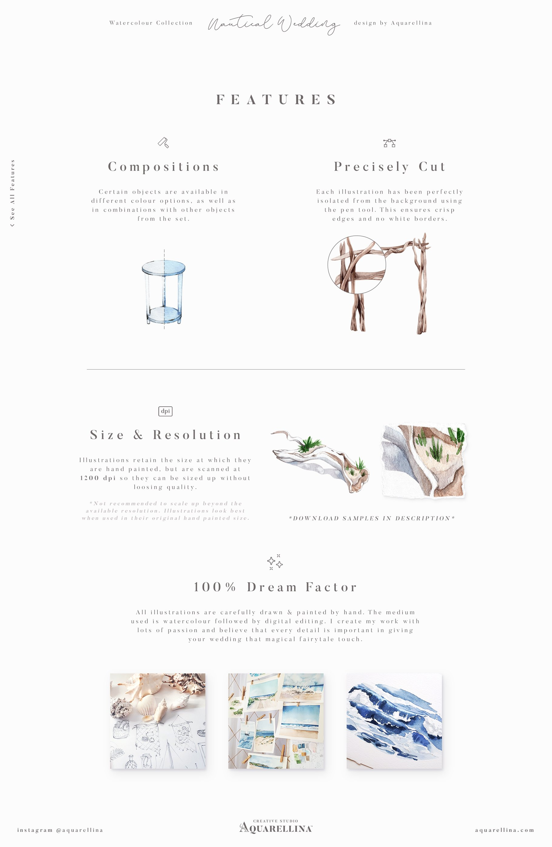 nautical beach wedding illustrations by aquarellina features 3
