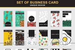 Set 24 stylish business cards