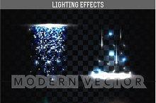 Set lightings effect isolated