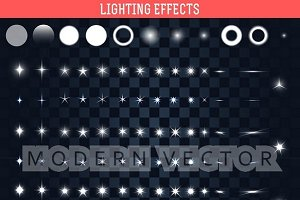 Big set of lighting effects